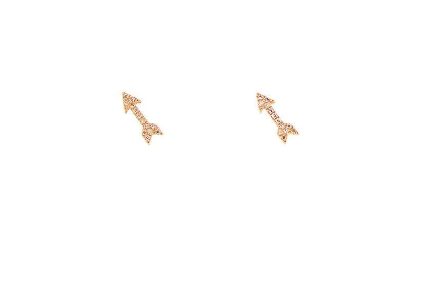 Diamond + Rose Gold Arrow