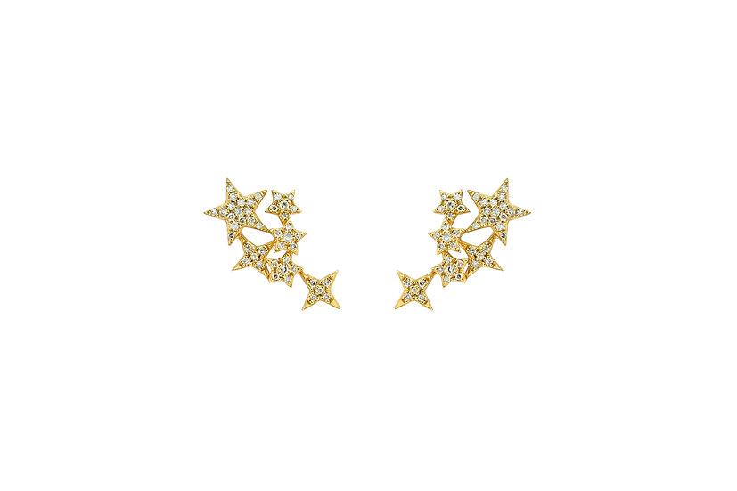 Diamond + 14k Yellow Gold Ear Climber