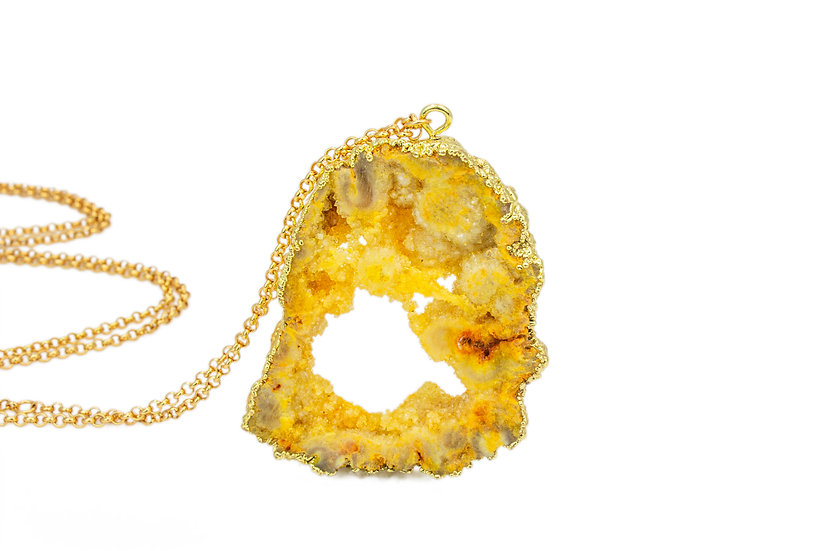 Large Druzy Necklace