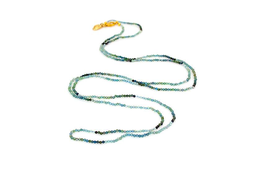 Long Blue Tourmaline Necklace