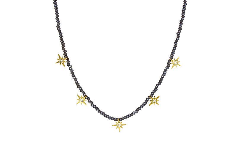 CZ Starburst Choker Necklace
