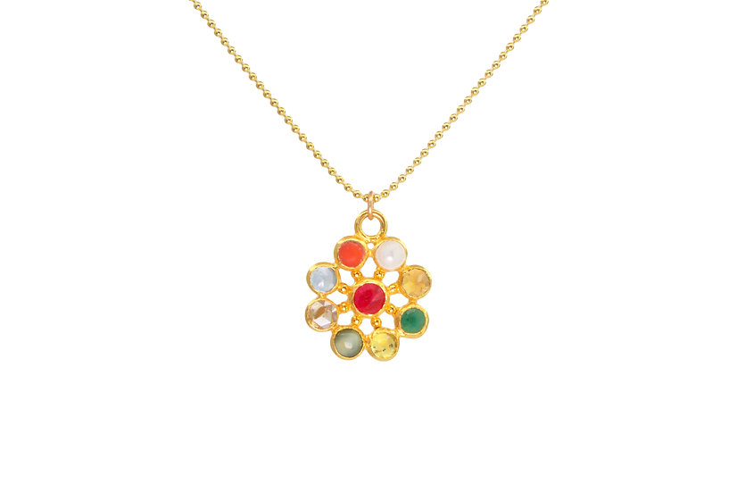 Nine Planets Pendant: Ayurvedic Jewelry