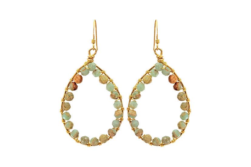 Opal Teardrop Earrings
