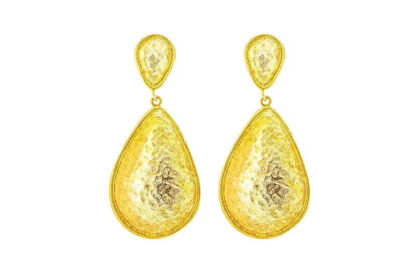 Gold Armor Earrings