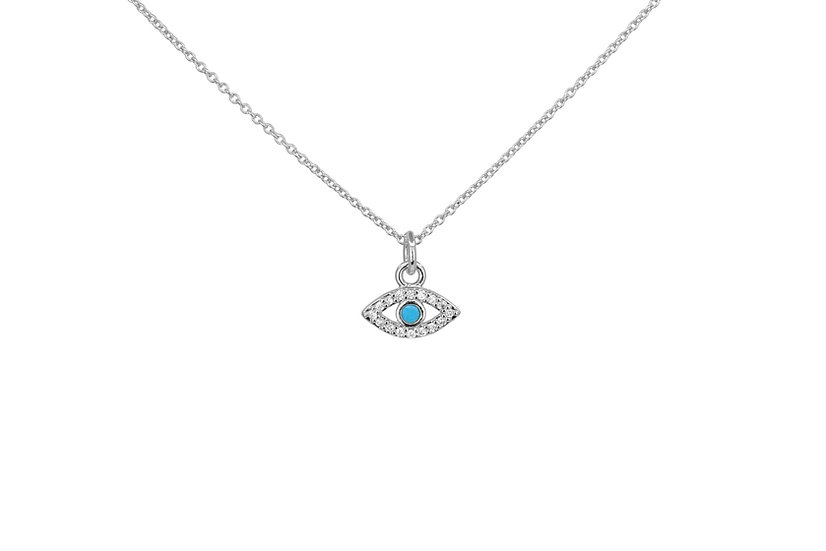 Sterling Silver + Turquoise Evil Eye