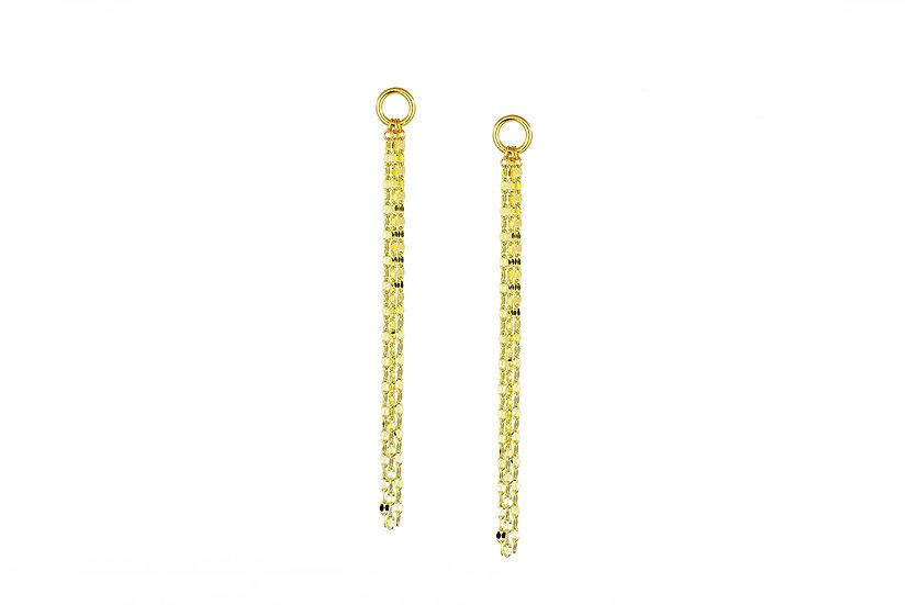 14k Yellow Gold Chain Earrings