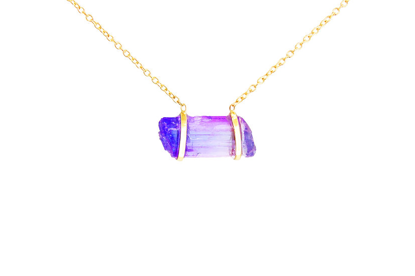 Tanzanite + 14k Gold Necklace