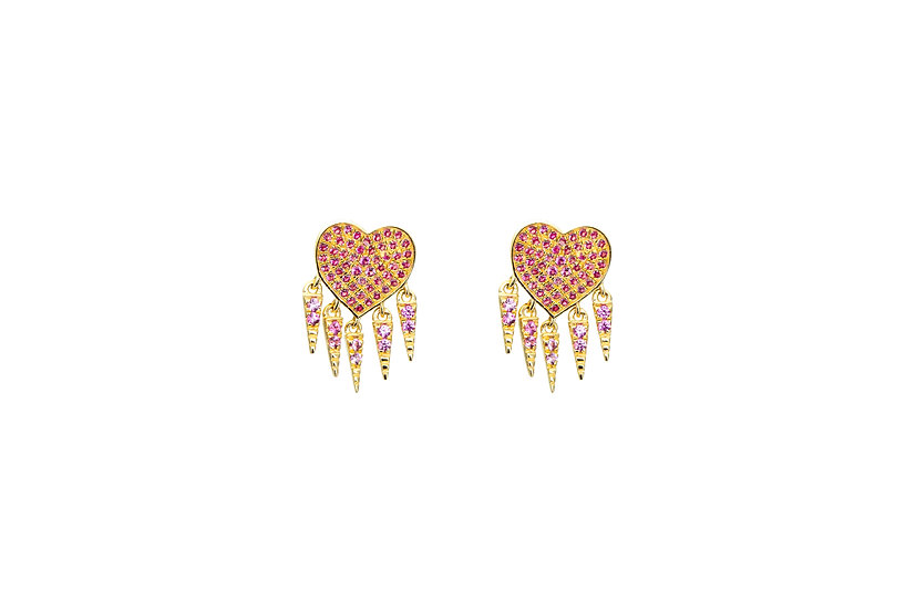 Pink Sapphire + 14k Yellow Gold