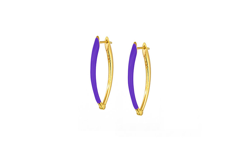 Purple and Gold Vermeil Earrings