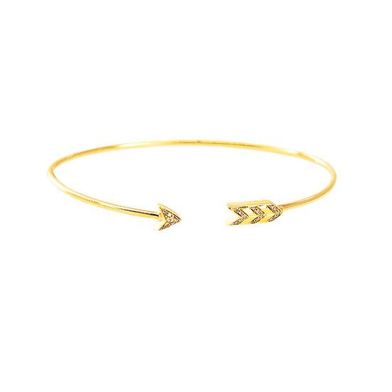 Diamond + Gold Open Arrow