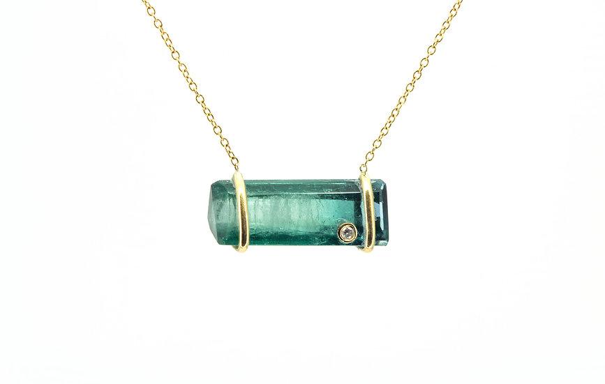 Gemstone, Diamond + 14k Yellow Gold