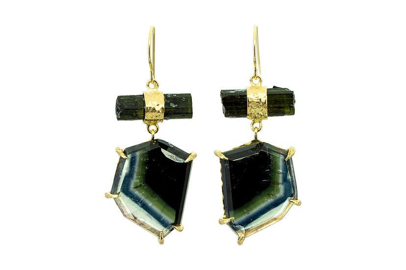 Gemstone + 14k Gold Earrings