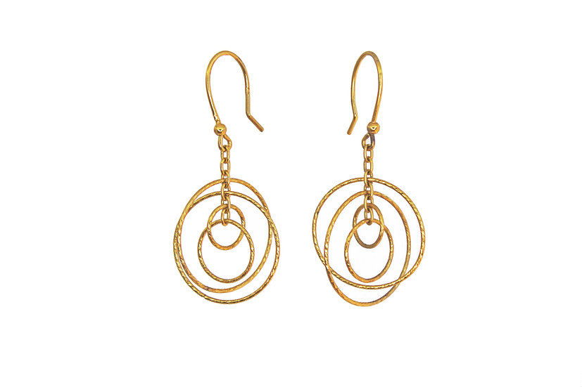 Small Gold Cosmos Earrings