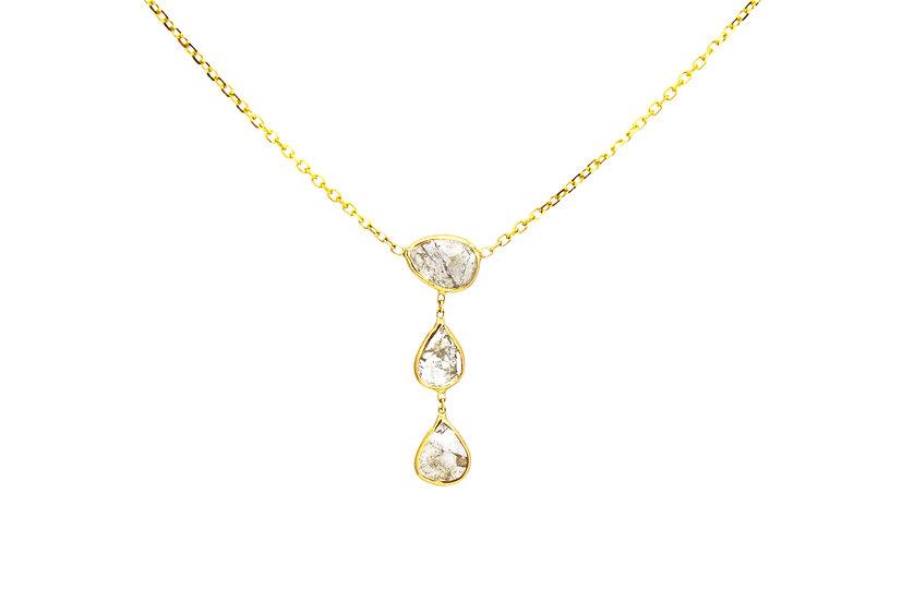 14k Gold + Diamond Slice