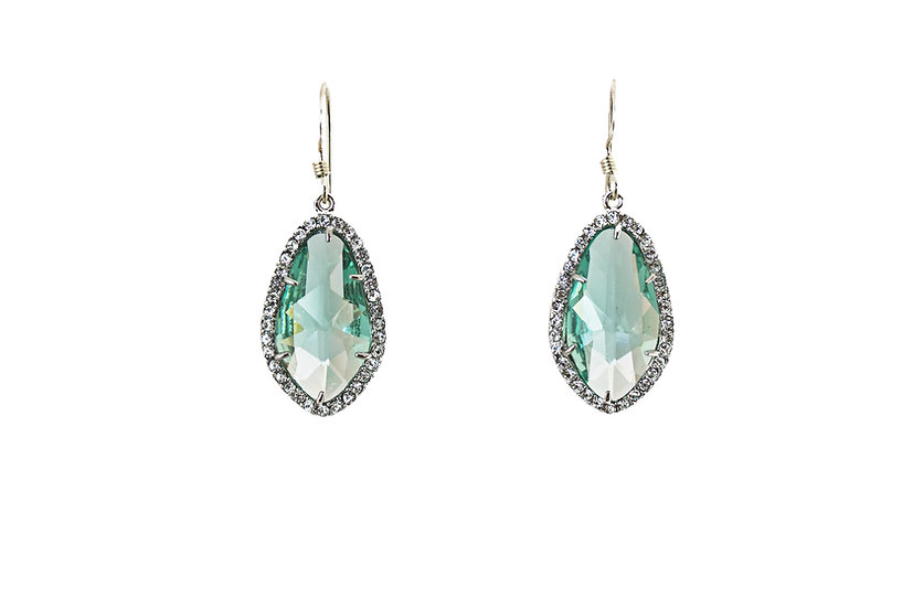 Deco CZ Color Therapy Silver | Sage Green