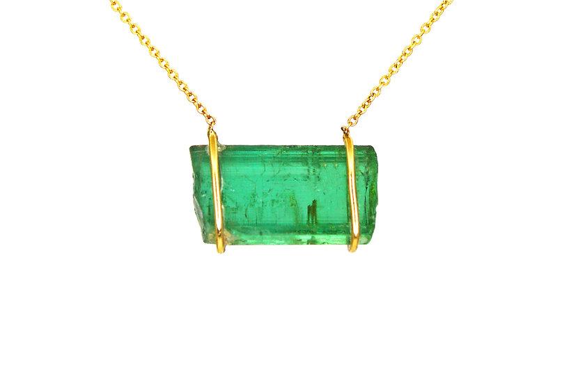 Green Tourmaline +14k Gold