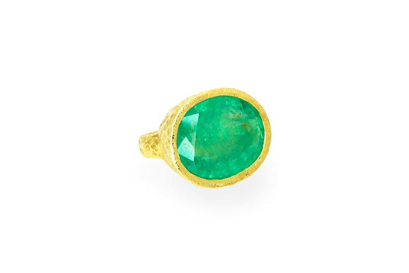 Emerald + 14k Gold Ring