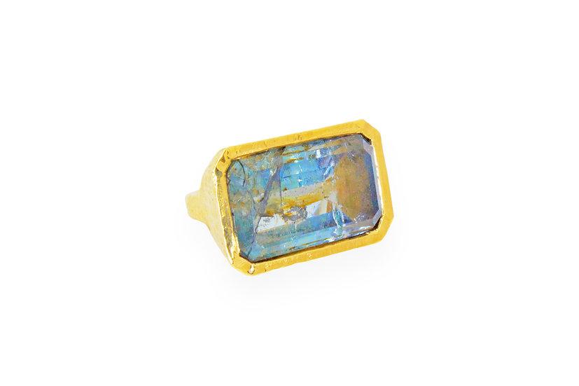 Aquamarine + 14k Gold