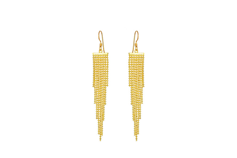 Yellow Gold Cascade Earrings