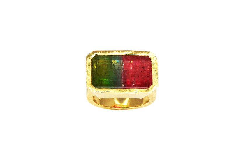 Multi-Color Tourmaline + 14k Yellow Gold