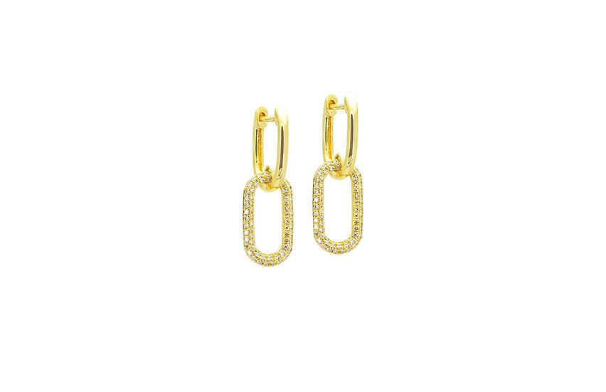Diamond + 14k Yellow Gold Earrings