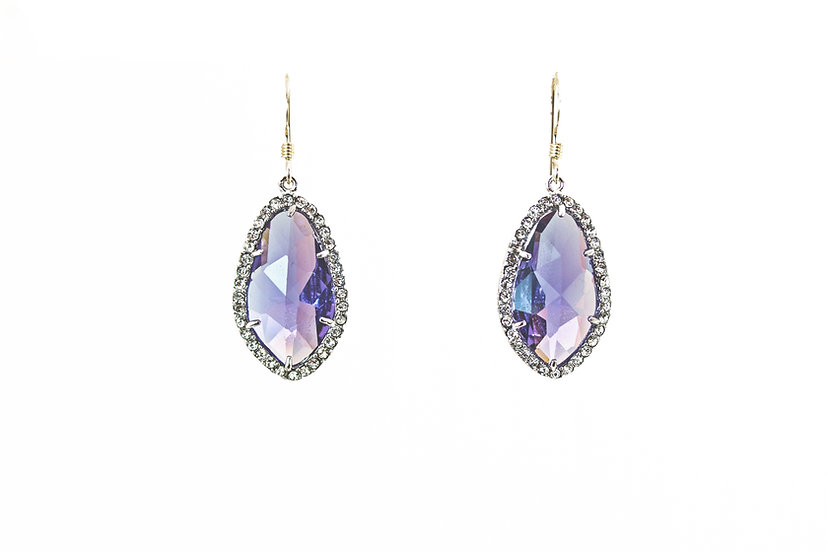 Deco CZ Color Therapy Silver | Violet