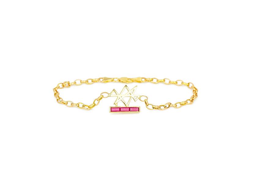 Burma Rubies Abundance Reiki Bracelet