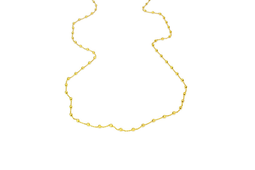 14k Gold Rose Cut Chain