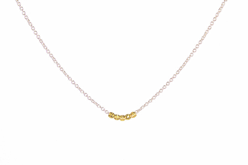 14k Mooncut Sterling Silver Necklace