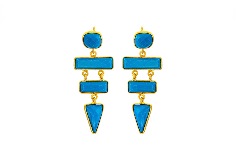 Turquoise Tier Earrings