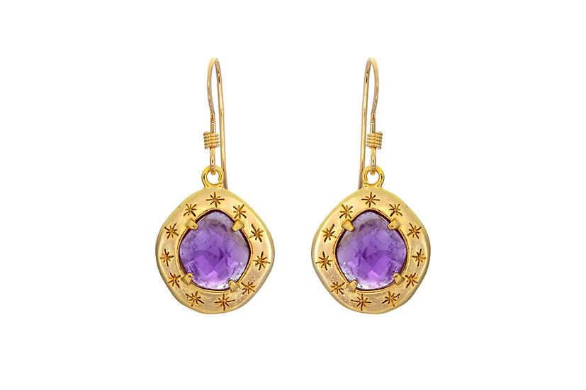 Starry Amethyst Earrings
