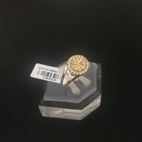 Nhẫn vàng nữ mặt tròn VJC 610