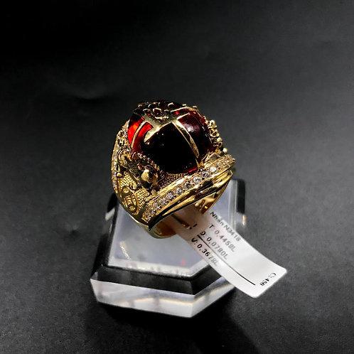 Nhẫn nam chữ Lộc đá đỏ VJC 610