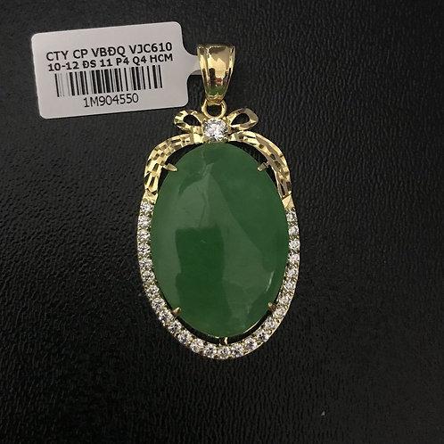 Mặt dây vàng đá Cẩm thạch VJC 610