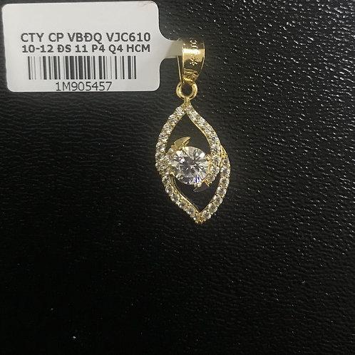 Mặt dây chuyền vàng đá trắng VJC 610