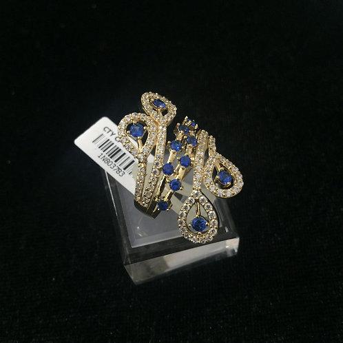 Nhẫn vàng đá xanh nước biển
