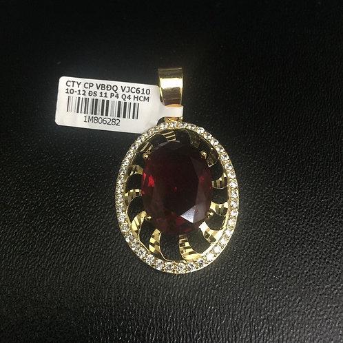 Mặt dây chuyền vàng đá đỏ VJC 610