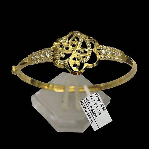 Vòng tay vàng đá trắng VJC 610