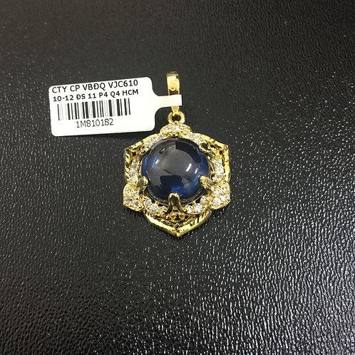 Mặt dây vàng đá Xanh nước biển VJC 610