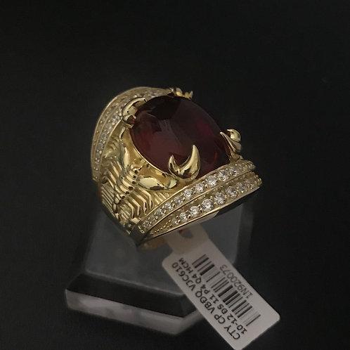 Nhẫn nam bọ cạp vàng đá đỏ VJC 610