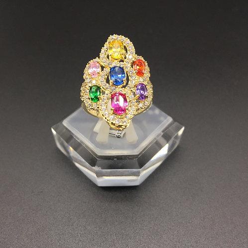 Nhẫn vàng nữ đá nhiều màu VJC 610