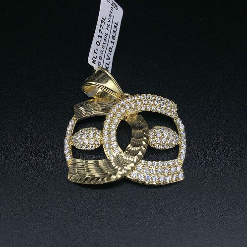 Mặt dây chuyền vàng nữ đá trắng gucci VJC 610