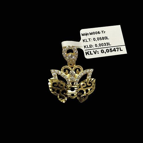 Mặt dây Bướm vàng đá trắng VJC 610