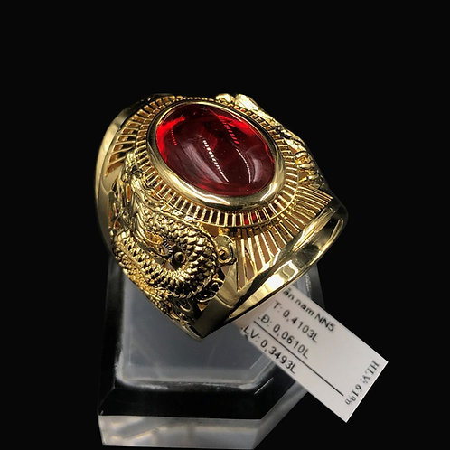 Nhẫn nam Rồng vàng đá đỏ VJC 610