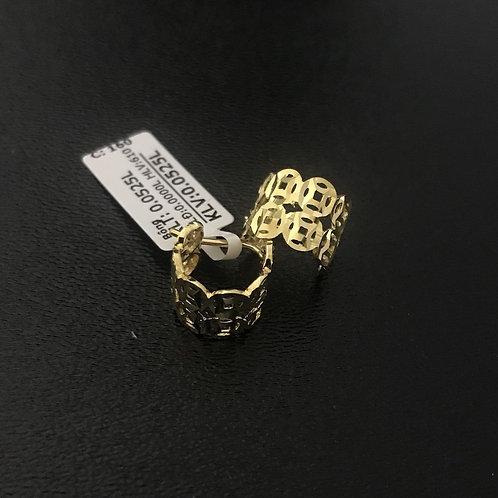 Bông tai đồng tiền vàng VJC 610