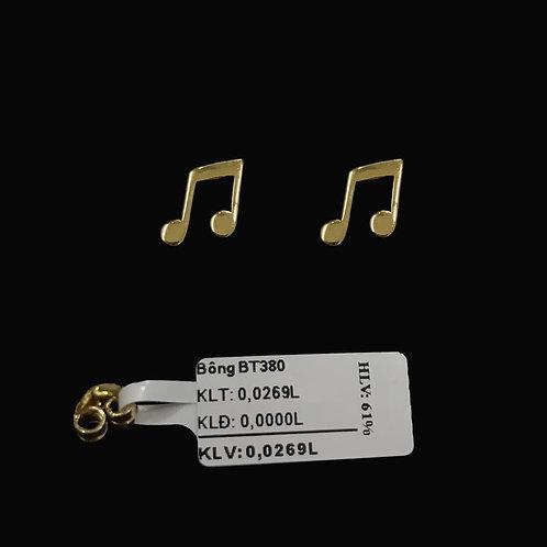 Bông tai nốt nhạc vàng VJC 610