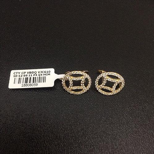 Bông tai vàng đồng tiền VJC 610