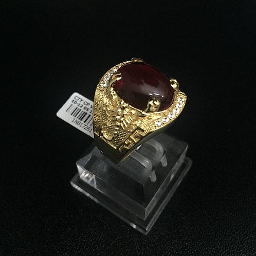 Nhẫn vàng nam đá đỏ VJC 610