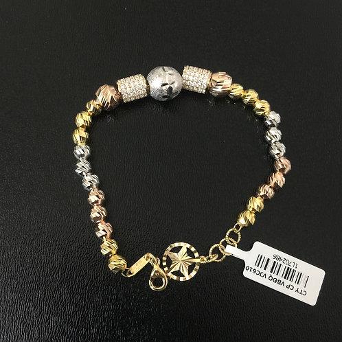 Lắc tay vàng nữ ba màu VJC 610