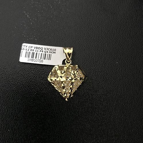 Mặt dây chuyền kim cương vàng đá trắng VJC 610